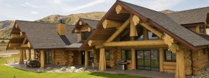 custom built log homes